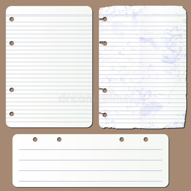 Wektor strony od notepad royalty ilustracja