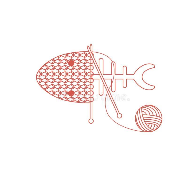 Wektor sylwetki rybia ilustracja Kolorowej kreskówki akwarium ryba płaska ikona dla twój projekta ilustracja wektor
