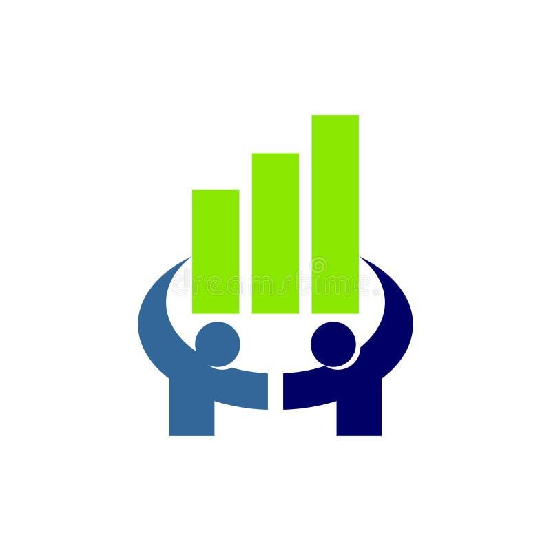 Wektor szablonów logo w pracy zespołowej do doradztwa finansowego royalty ilustracja