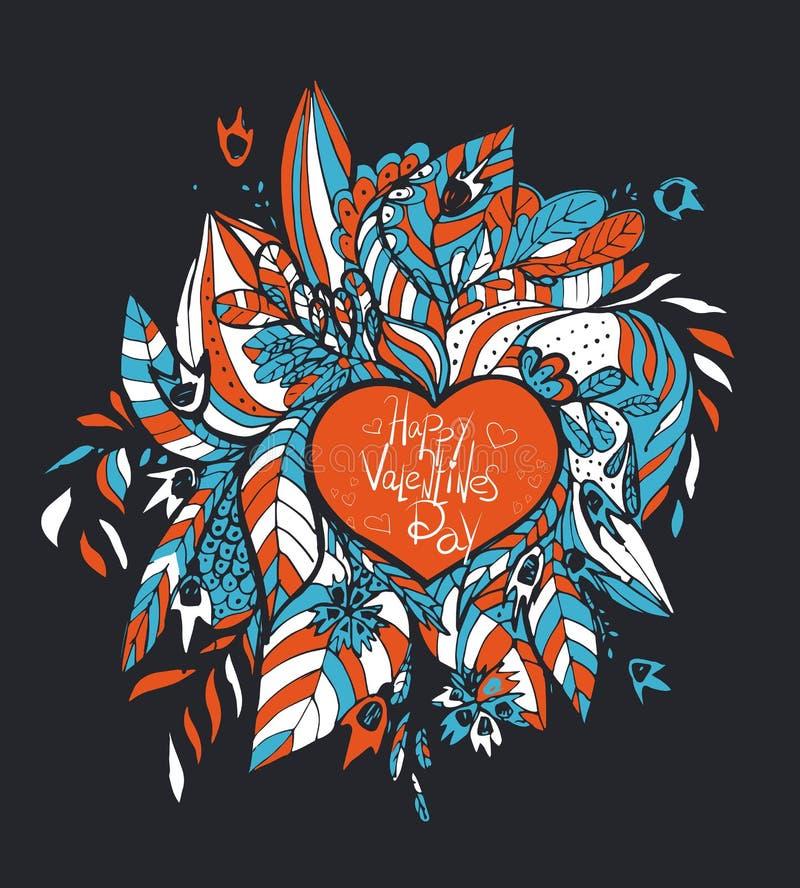 wektor Szkicowi miłości i serc doodles ilustracja wektor