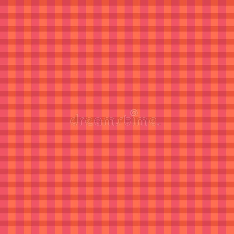 Wektor szkockiej kraty różowy pomarańczowy wzór royalty ilustracja