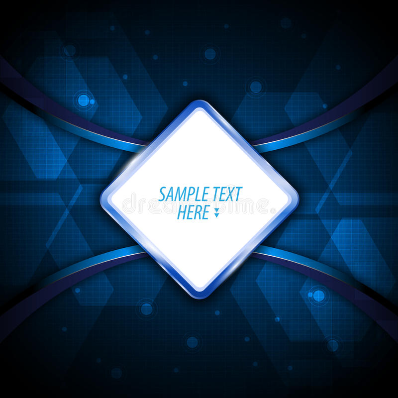 Wektor techniki innowaci ramy szablonu znaka projekta błękitny tło cześć ilustracji