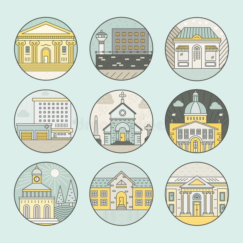 wektor wizerunku miasta architektury royalty ilustracja