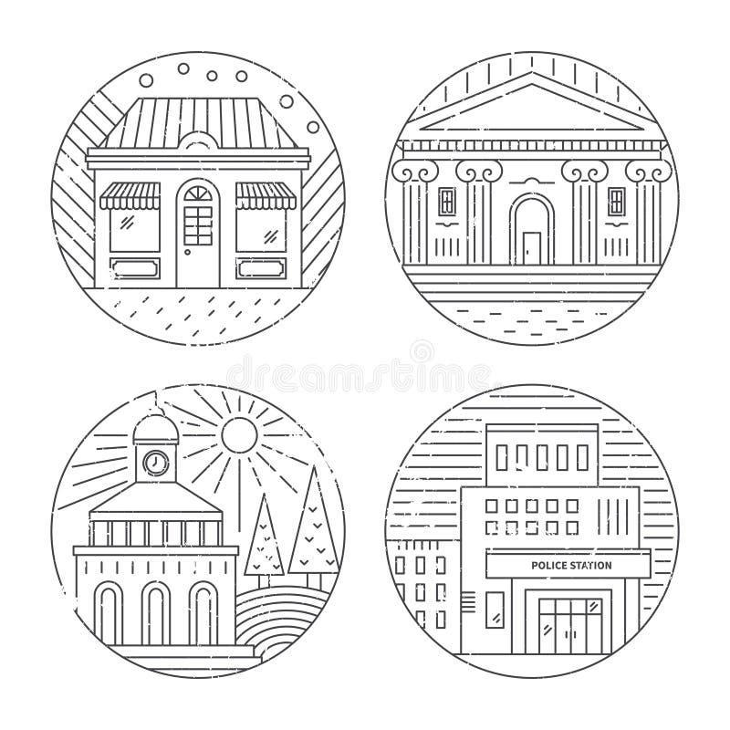 wektor wizerunku miasta architektury ilustracji