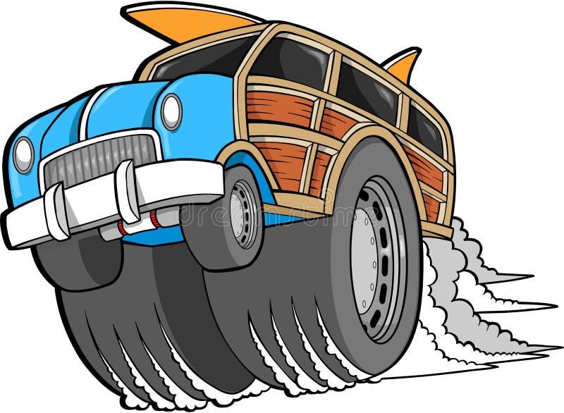 wektor woodie samochodowy royalty ilustracja