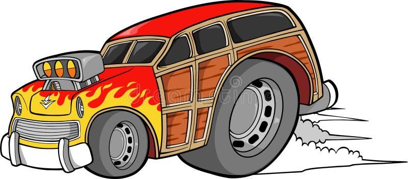 wektor woodie samochodowy ilustracji