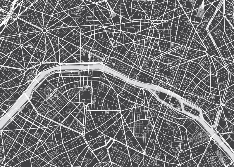 Wektor wyszczególniająca mapa Paryż