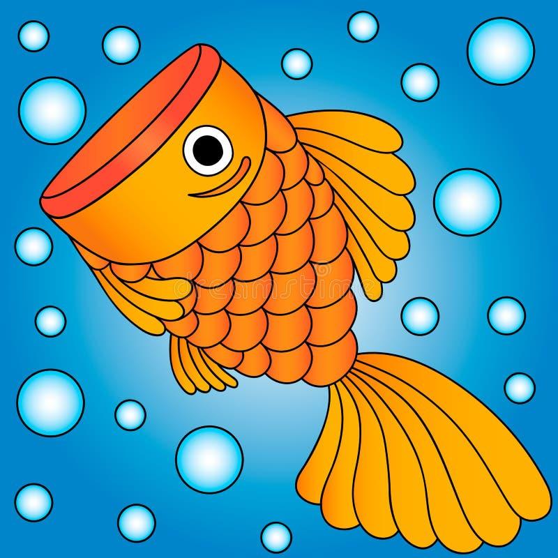 Wektor złota ryba zdjęcie royalty free