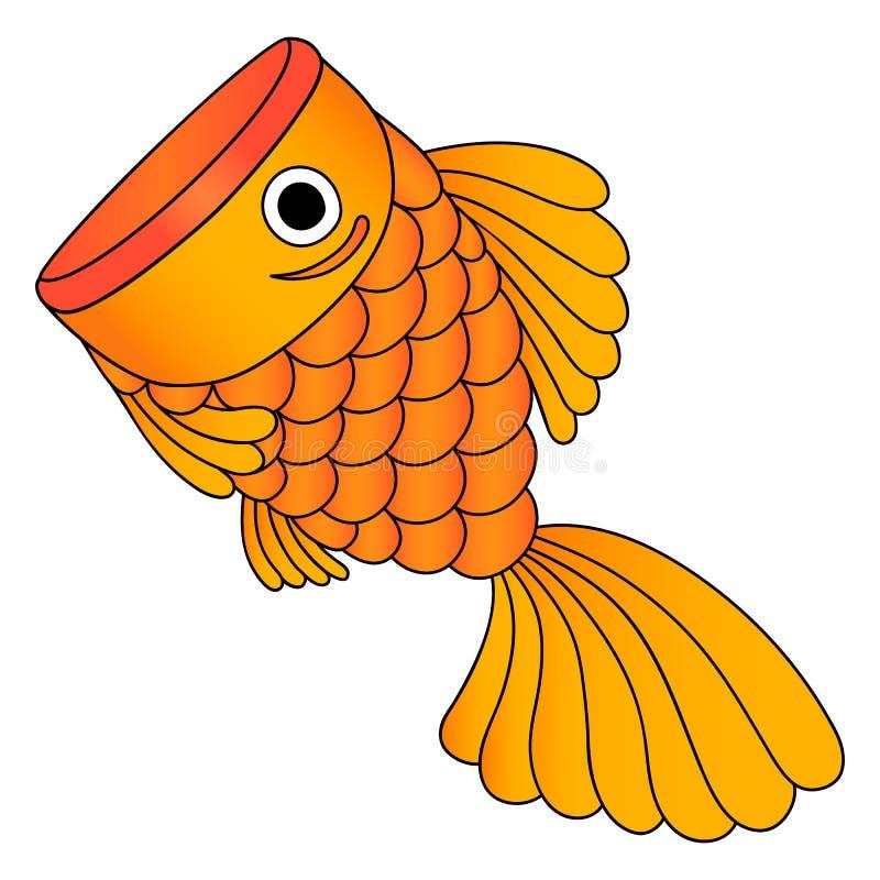 Wektor złota ryba, odosobniony obraz royalty free