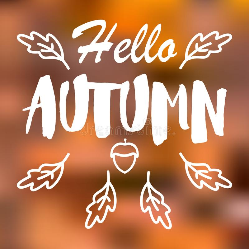 Wektor zamazujący jesień krajobrazu tło ilustracja wektor