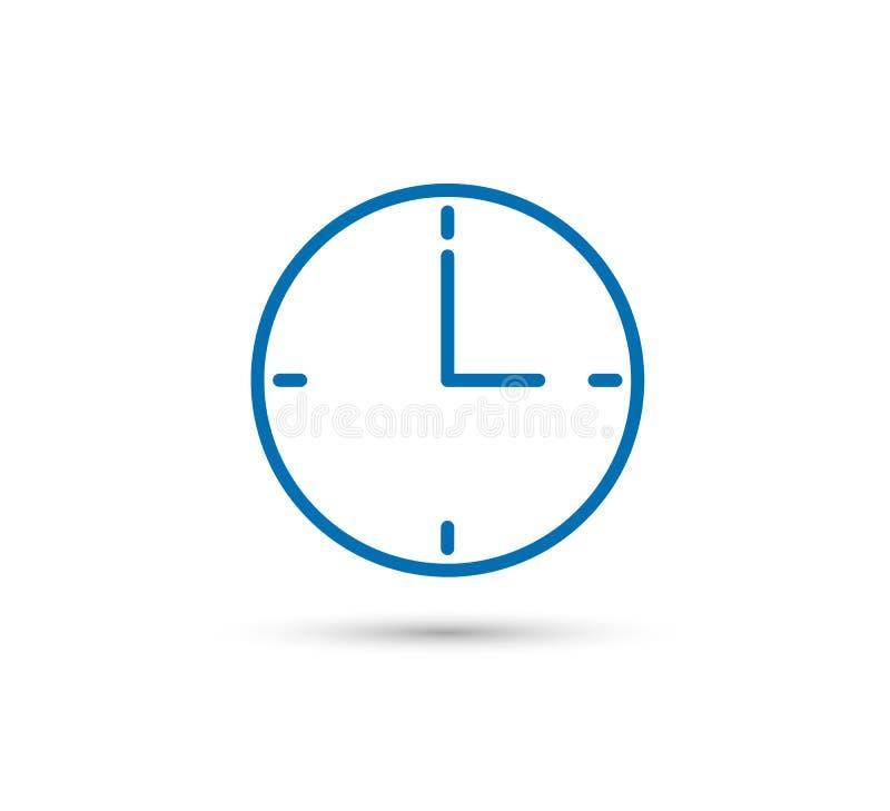 Wektor Zegarowa ilustracja, czasu symbol, budzika znak Zegarek, kontur ilustracji