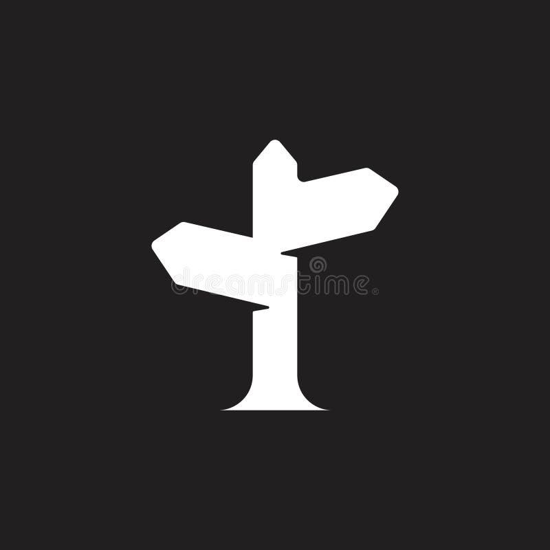 Wektor znak uliczny podr??y logo ilustracja wektor