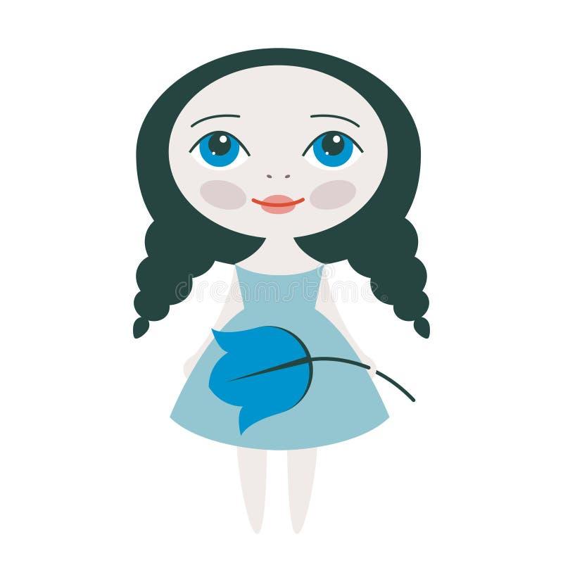 Wektorowa ładna dziewczyna ilustracji