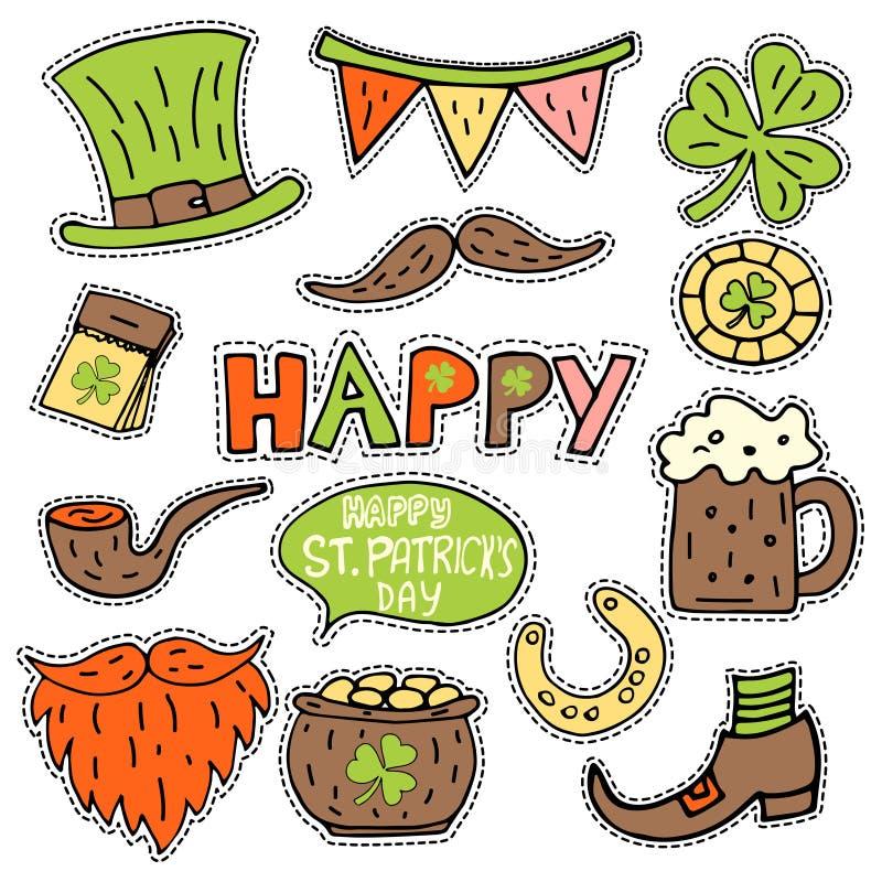Wektorowa łata ustawia - St Patrick ` s dzień royalty ilustracja