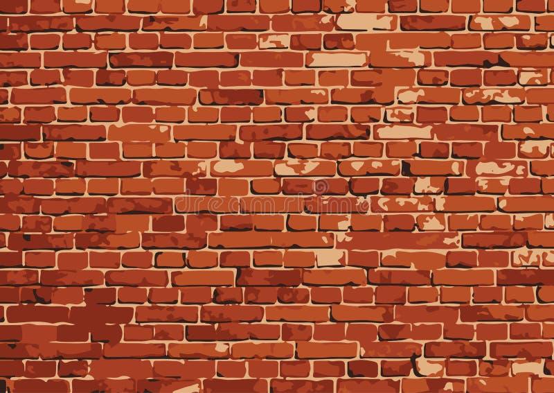 Wektorowa ściana z cegieł tekstury ilustracja, brickwall wzór royalty ilustracja