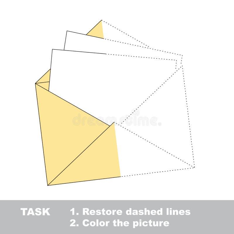 Wektorowa ślad gra Papierowa koperta barwić ilustracji