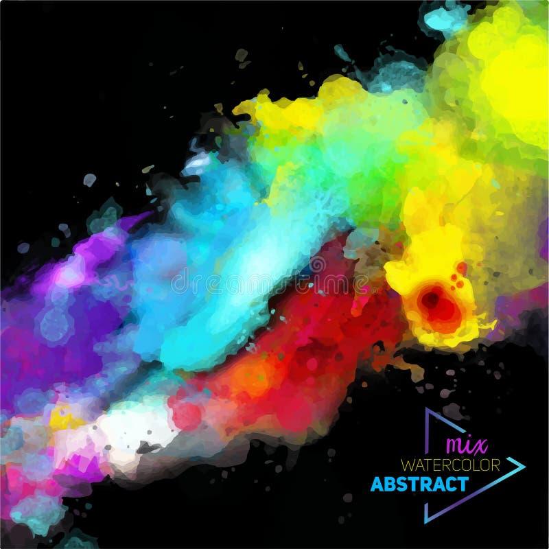 Wektorowa abstrakcjonistyczna akwareli paleta mieszanka kolory ilustracja wektor