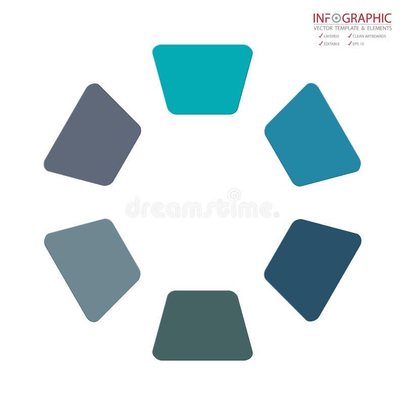 Wektorowa abstrakcjonistyczna elementu infographics 6 opcja Projekt dla busine ilustracja wektor