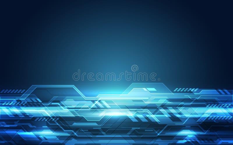 Wektorowa Abstrakcjonistyczna futurystyczna wysoka prędkość, Ilustracyjnej wysokiej technologii cyfrowej tła kolorowy pojęcie royalty ilustracja