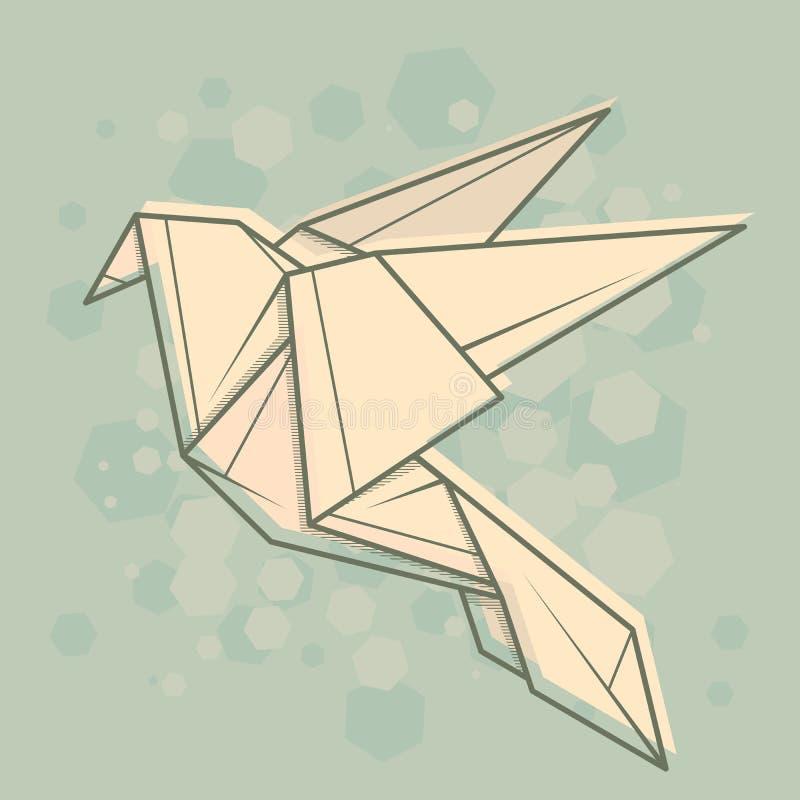 Wektorowa abstrakcjonistyczna ilustraci gołąbka ilustracji