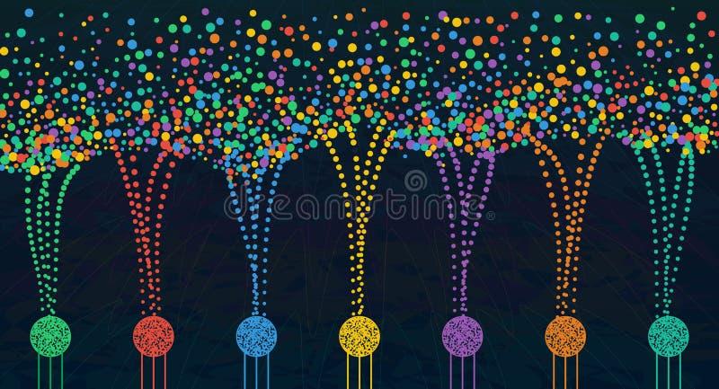 Wektorowa abstrakcjonistyczna kolorowa duża dane informacja sortuje unaocznienie royalty ilustracja