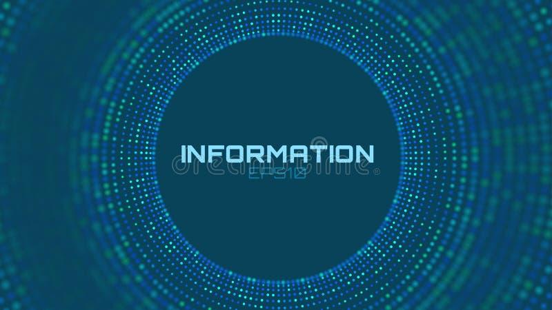 Wektorowa abstrakcjonistyczna kolorowa duża dane informacja sortuje unaocznienie Ogólnospołeczna sieć, pieniężna analiza kompleks ilustracji