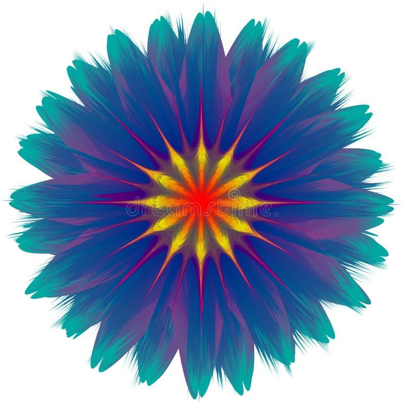 Wektorowa Abstrakcjonistyczna kwiat kontaminacja, gradientowy skutek, kolorowa ilustracja ilustracji