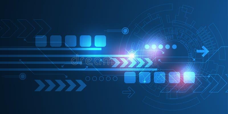 Wektorowa abstrakcjonistyczna tło technologii innowacja ilustracja wektor