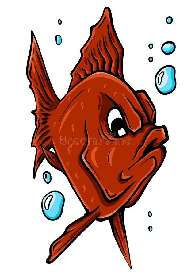 Wektorowa akwarium ryba sylwetki ilustracja Kolorowej kresk?wki akwarium ryba p?aska ikona obrazy royalty free