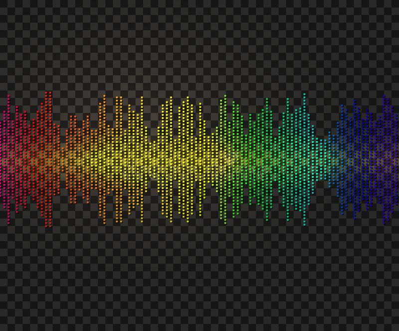Wektorowa amplituda, Neonowa Jarzeniowa ilustracja, Błyszczy projekta element ilustracja wektor