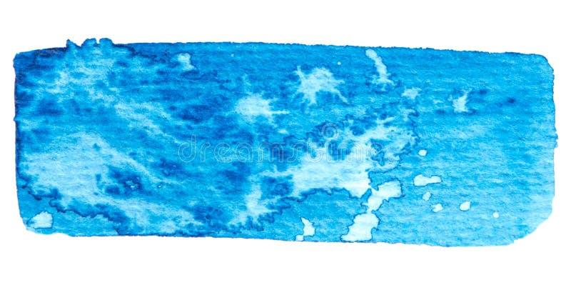 Wektorowa błękitna farby tekstura odizolowywająca na bielu royalty ilustracja