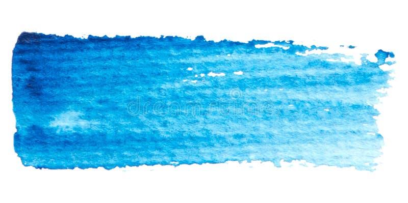 Wektorowa błękitna farby tekstura odizolowywająca na bielu - akwarela horyzontalny sztandar dla Twój projekta ilustracja wektor