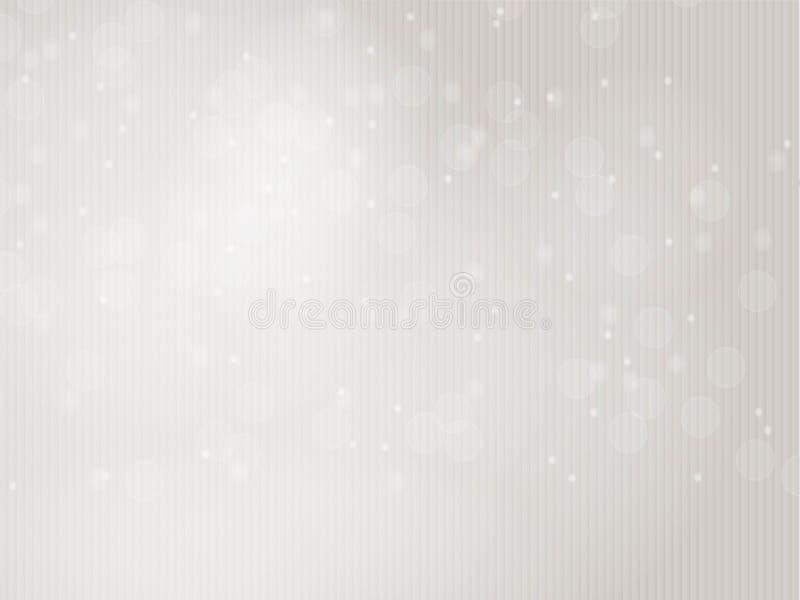 Wektorowa błyskotliwość zaświeca tło Srebny, popielaty i biały, pasiasta tekstura ilustracja wektor