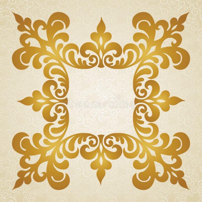 Wektorowa barok rama w wiktoriański stylu. royalty ilustracja