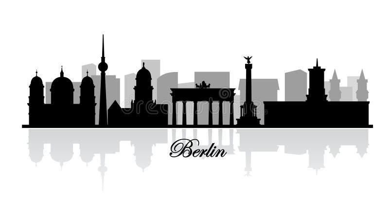 Wektorowa Berlin linii horyzontu sylwetka ilustracja wektor