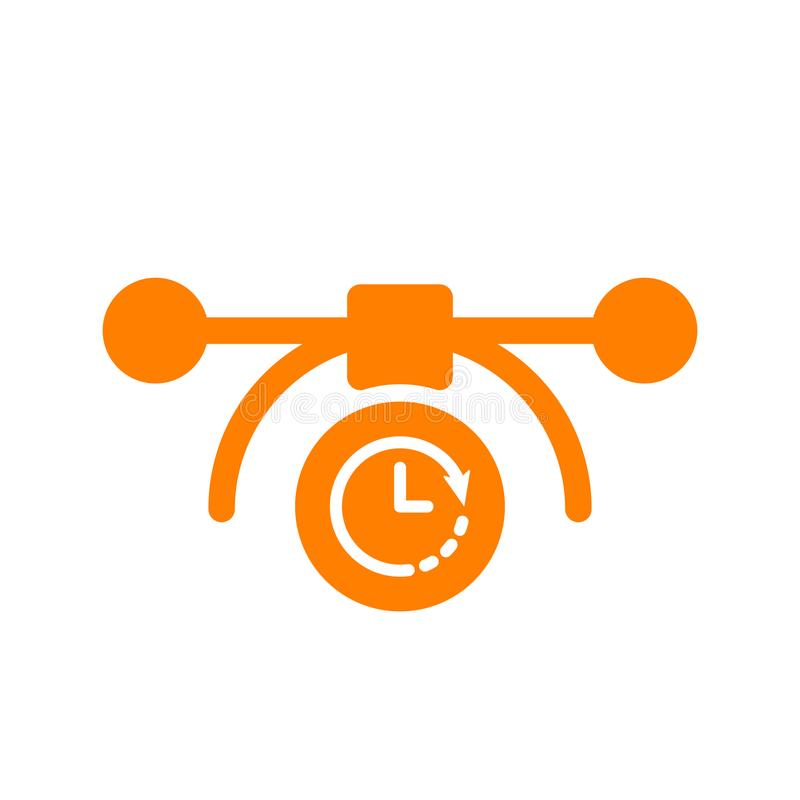 Wektorowa bezier ikona, multimedialna ikona z zegaru znakiem Wektorowa bezier ikona i odliczanie, ostateczny termin, rozkład, pla ilustracji
