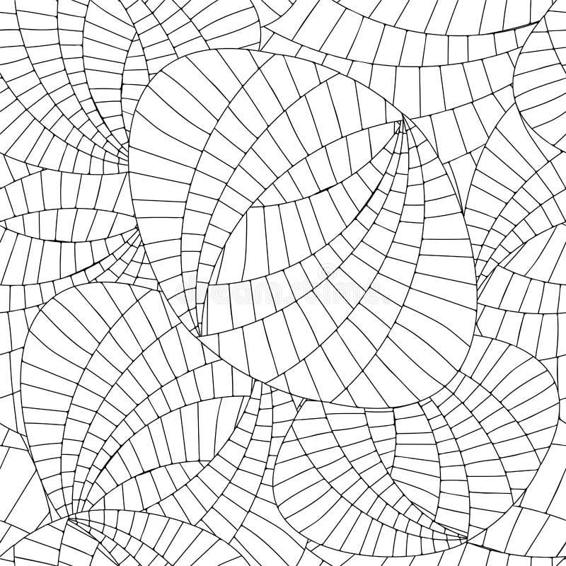 Wektorowa bezszwowa abstrakcjonistyczna doodle sieć i falowy wzór ilustracja wektor