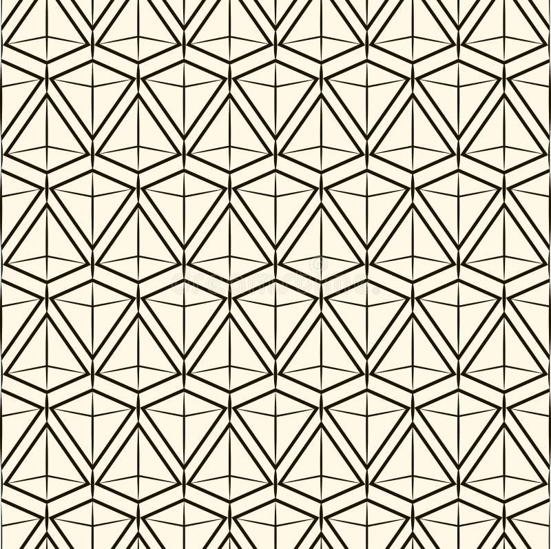 Wektorowa bezszwowa deseniowa Nowożytna elegancka tekstura Wielostrzałowe geometryczne płytki ilustracja wektor