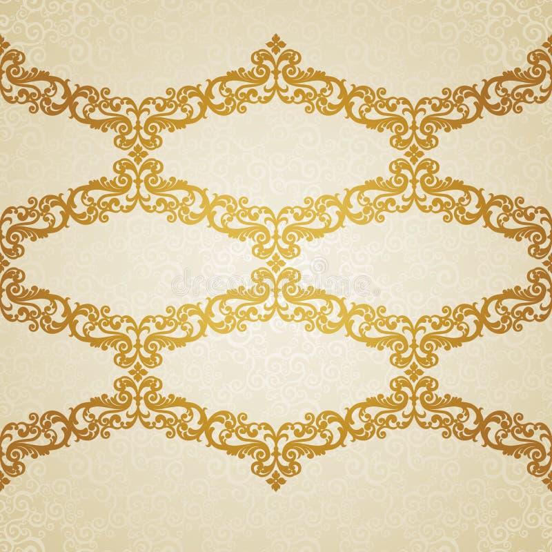 Wektorowa bezszwowa granica w wiktoriański stylu. royalty ilustracja
