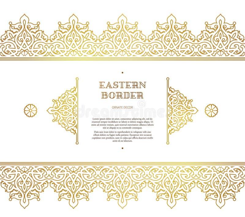 Wektorowa bezszwowa granica w Wschodnim stylu royalty ilustracja