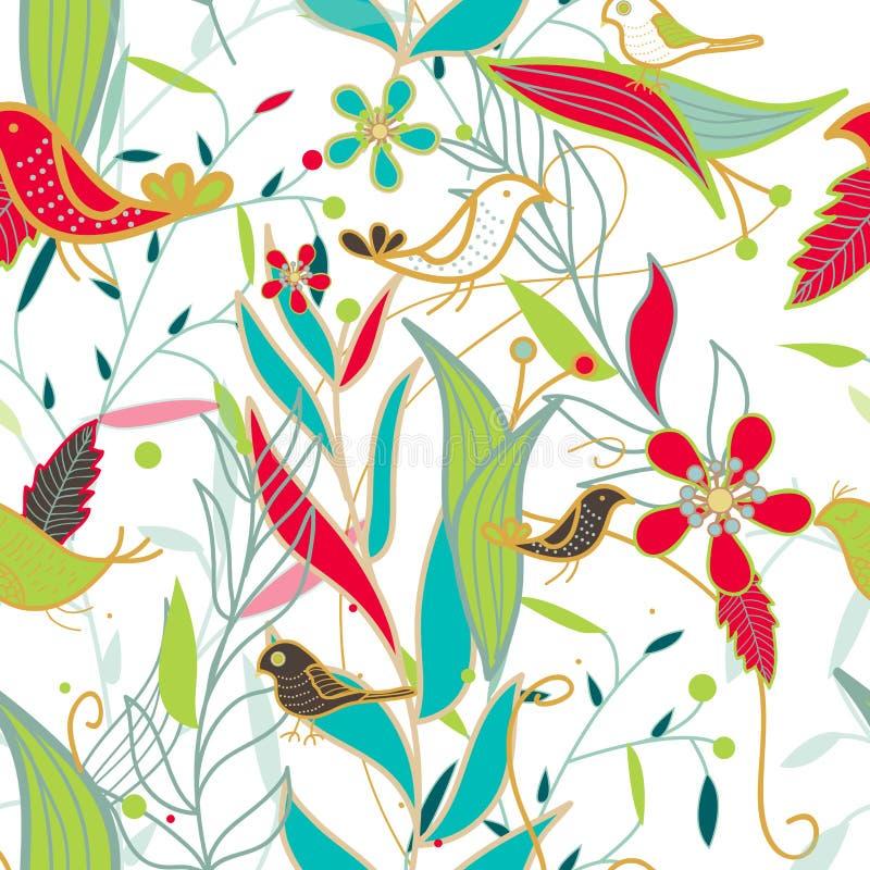 Wektorowa bezszwowa kwiecista tekstura ilustracji