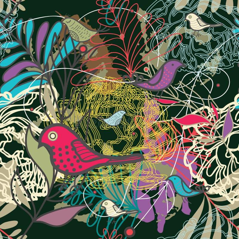 Wektorowa bezszwowa kwiecista tekstura ilustracja wektor