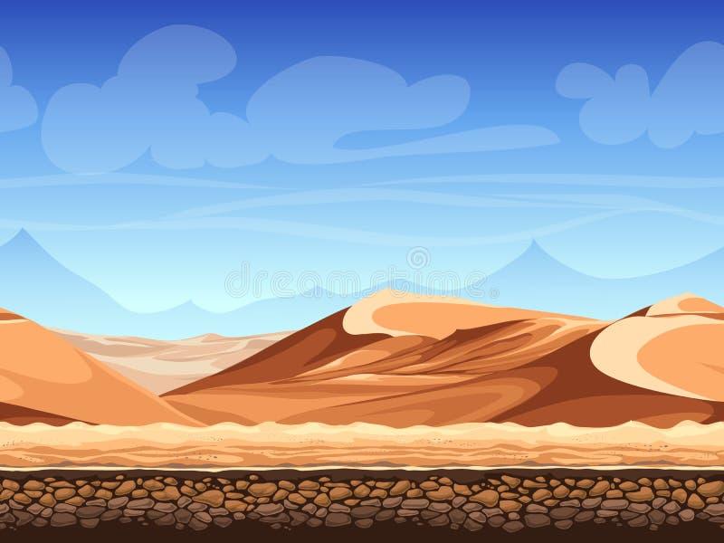 Wektorowa bezszwowa tło pustynia royalty ilustracja