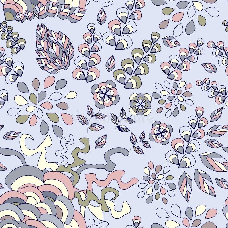 Download Wektorowa Bezszwowa Tekstura Z Abstrakcjonistycznym Kwiatem Etniczny Bezszwowy Pa Ilustracji - Ilustracja złożonej z kwiat, fantazja: 53790684