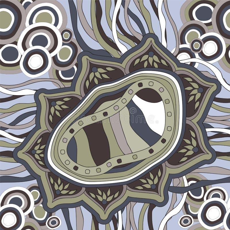 Download Wektorowa Bezszwowa Tekstura Z Abstrakcjonistycznym Kwiatem Etniczny Bezszwowy Pa Ilustracji - Ilustracja złożonej z wzór, wyznaczający: 53790764