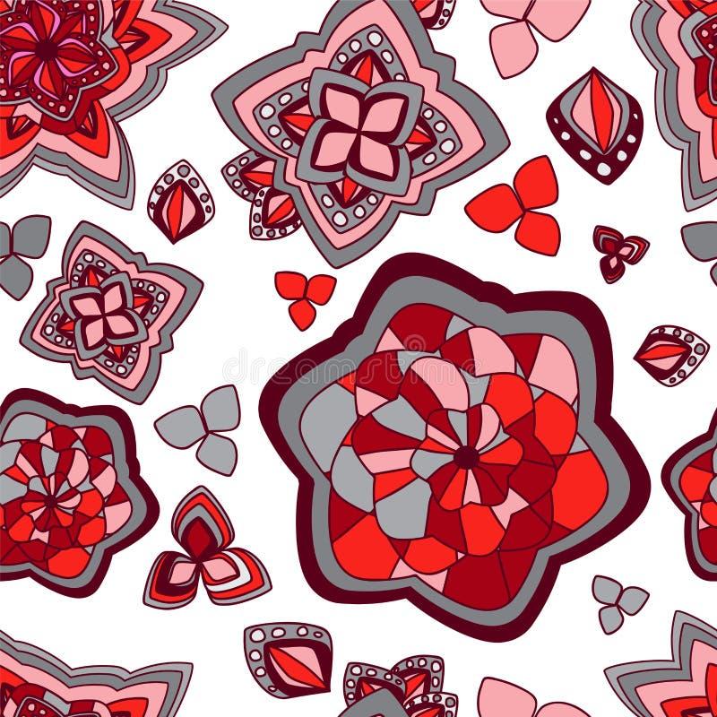 Download Wektorowa Bezszwowa Tekstura Z Abstrakcjonistycznym Kwiatem Etniczny Bezszwowy Pa Ilustracji - Ilustracja złożonej z pojęcie, tło: 53790791