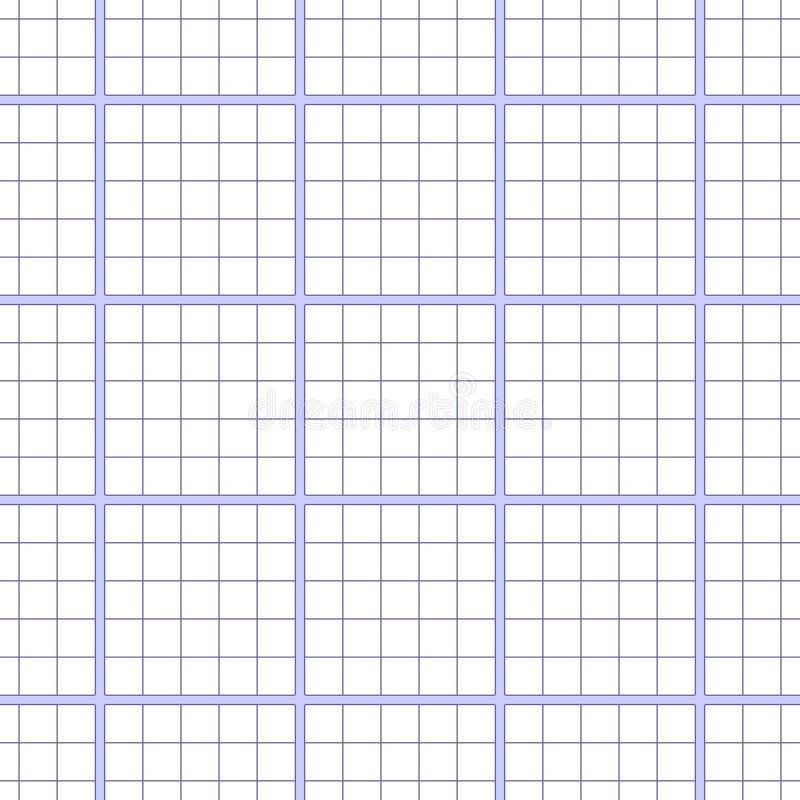 Wektorowa bezszwowa wzoru papieru ćwiczenia książka w komórce Tekstura notatnika prześcieradło ilustracja wektor