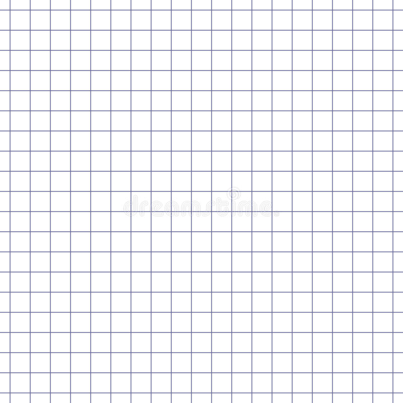 Wektorowa bezszwowa wzoru papieru ćwiczenia książka w komórce Tekstura notatnika prześcieradło royalty ilustracja
