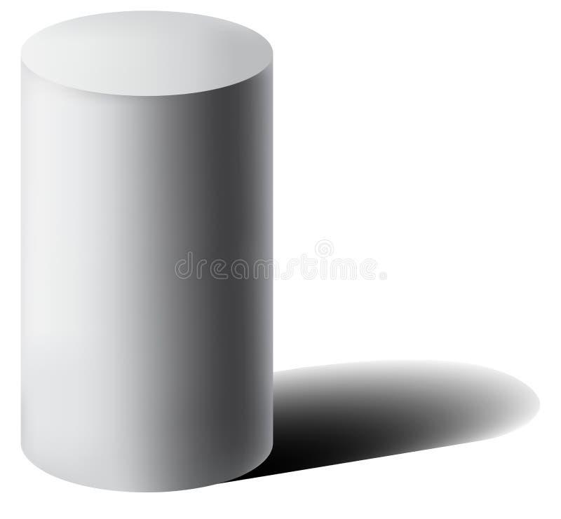 Wektorowa bielu 3D butla z cieniem royalty ilustracja