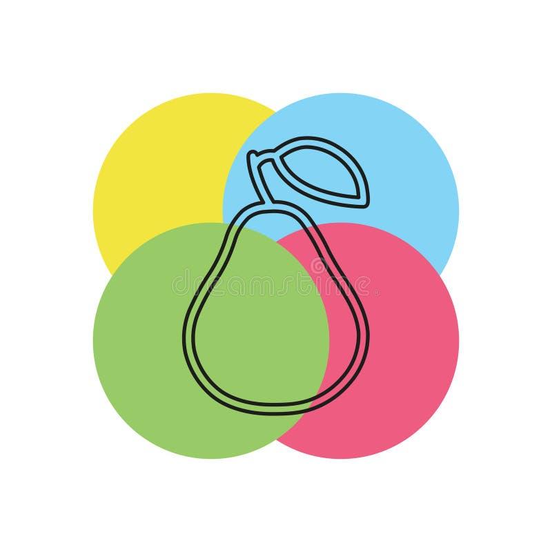 Wektorowa bonkrety ilustracja, świeża owoc - organicznie royalty ilustracja
